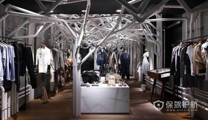法式创意工业风服装店装修效果图