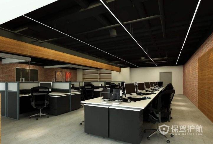 后现代风格办公室办公区装修效果图