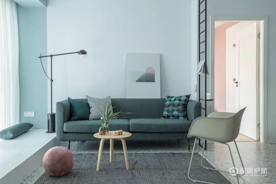 公寓小客厅沙发摆设效果图
