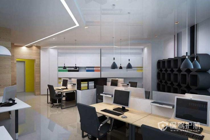 简约风格办公室办公区装修效果图