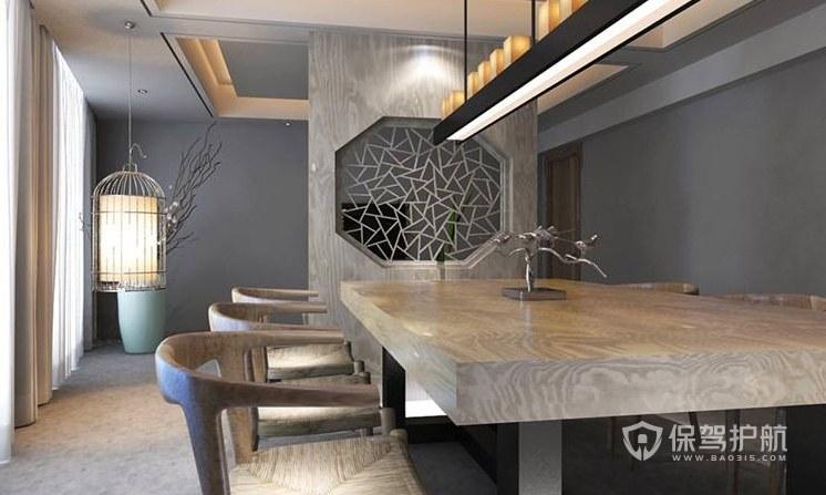 中式风格办公会议室装修效果图