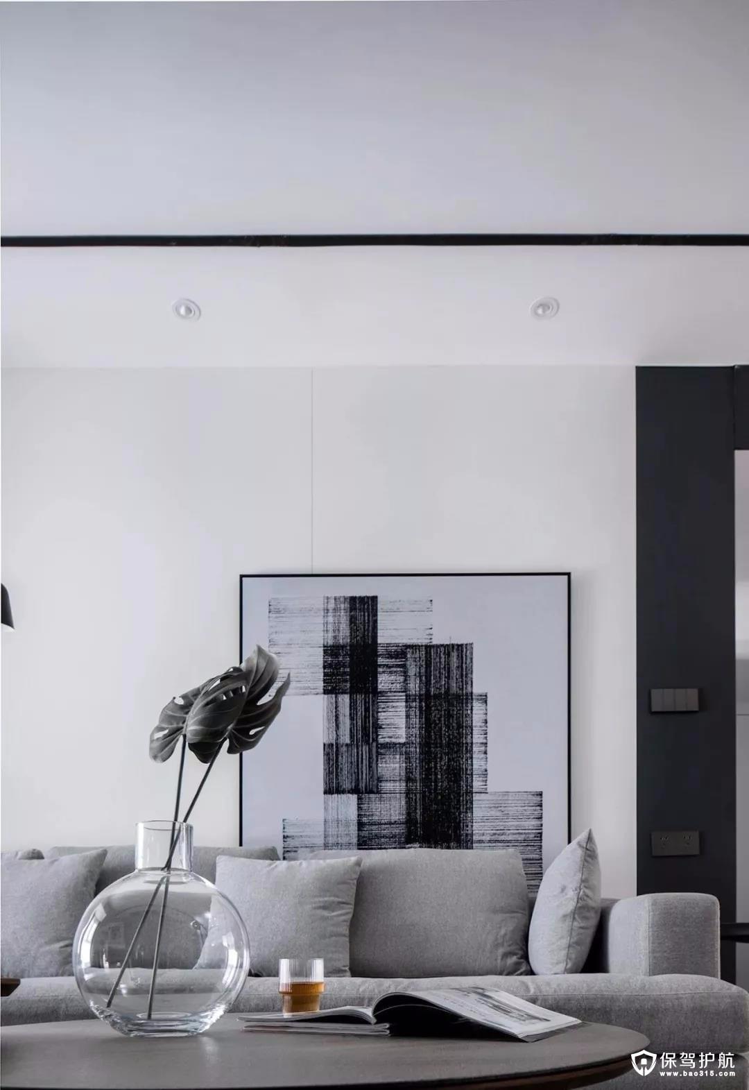 现代简约黑白灰装修效果图