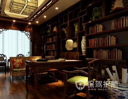 書房書柜如何設計?中式書房書柜裝修效果圖