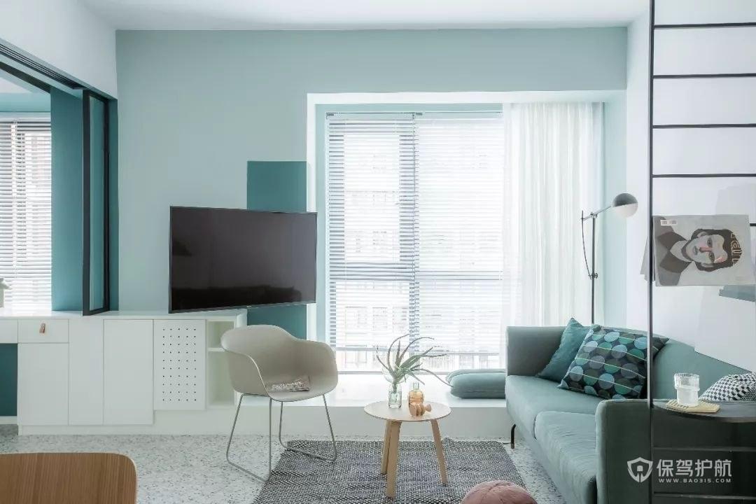 公寓小客厅创意沙发电视墙设计