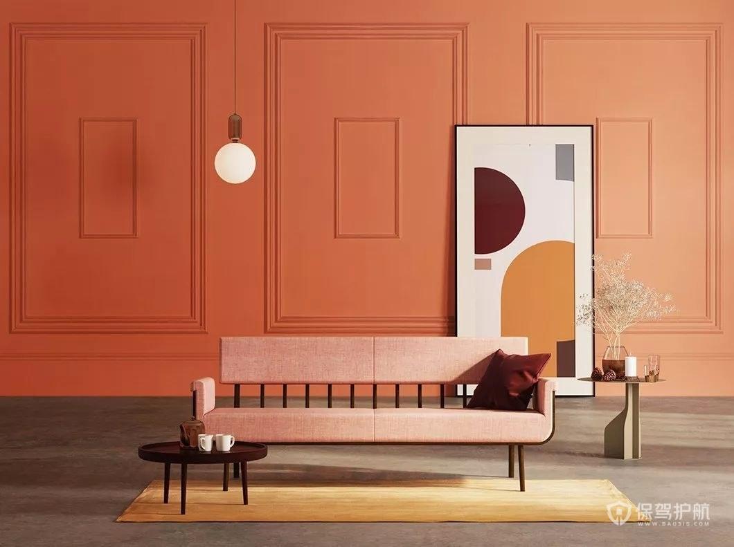创意个性墙面沙发色彩搭配效果图