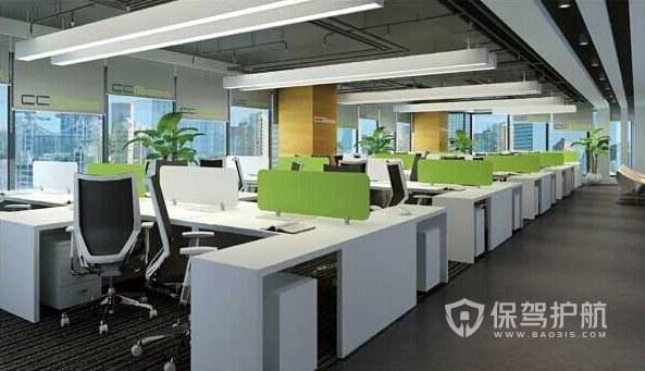 现代风格办公室办公区装修效果图