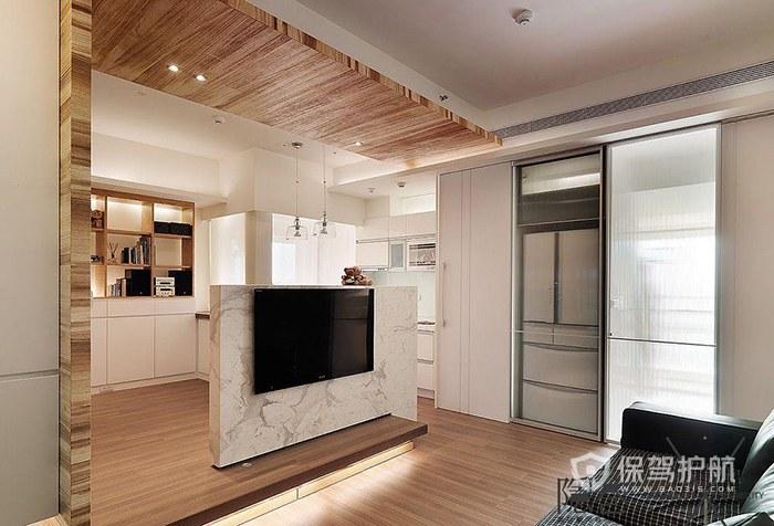 纯白电视墙装饰有什么风水讲究?电视墙尺寸多高合适?
