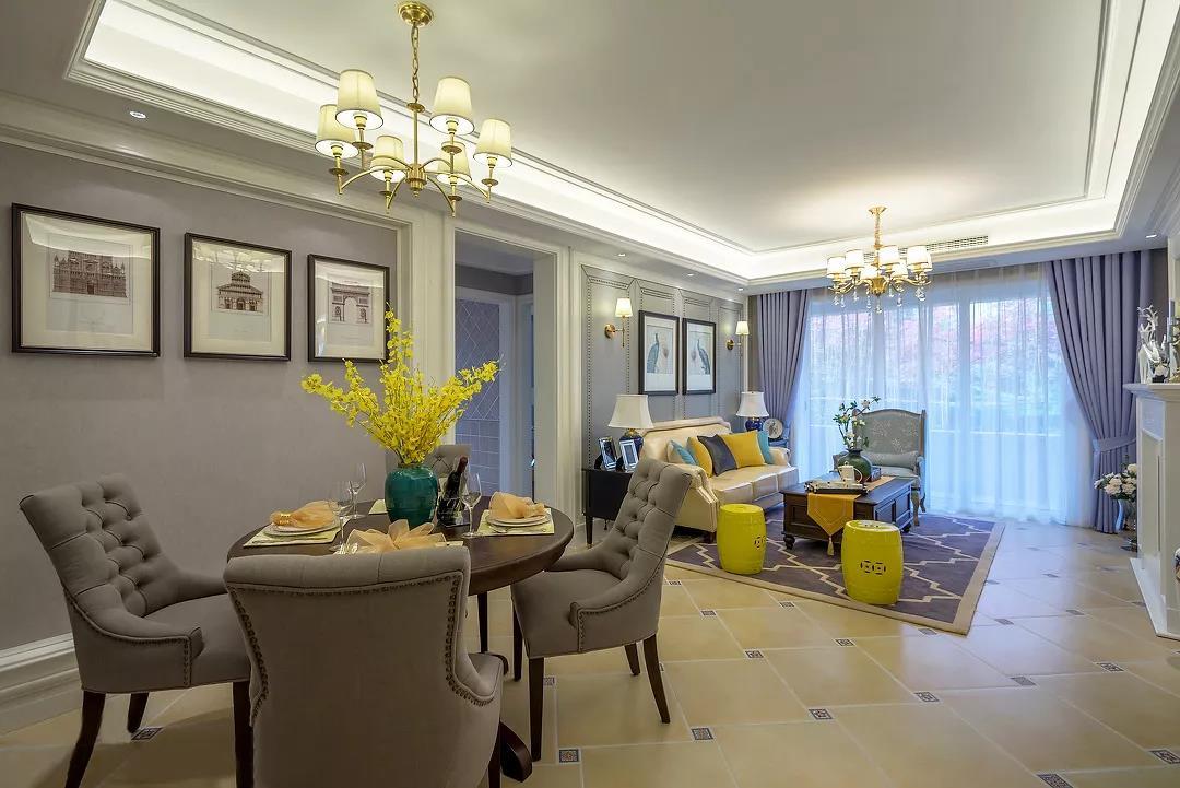 120㎡三室两厅,现代浪漫美式风格,造价13万!