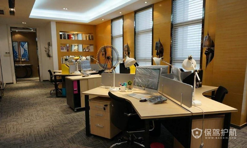 现代简欧混搭办公室办公区装修效果图…