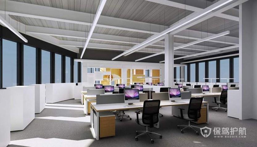 现代简约风办公室办公区装修效果图