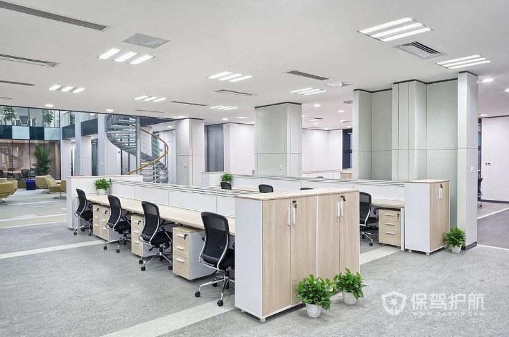 韩式办公室办公区装修效果图