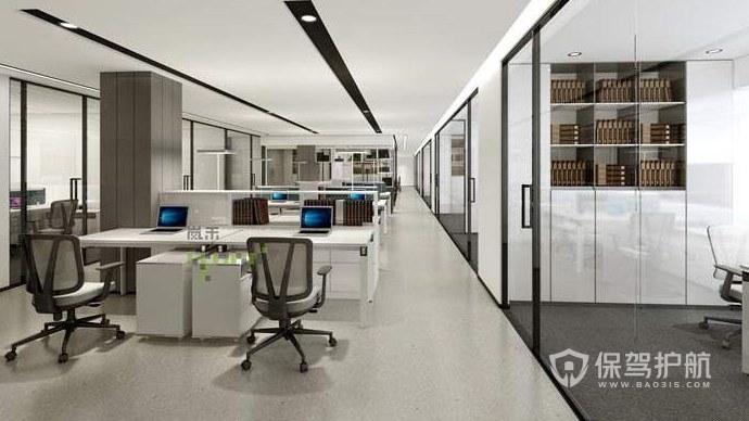 新中式格调办公室办公区装修效果图