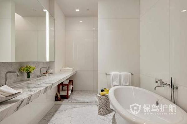 浴室白瓷砖-保驾护航装修网