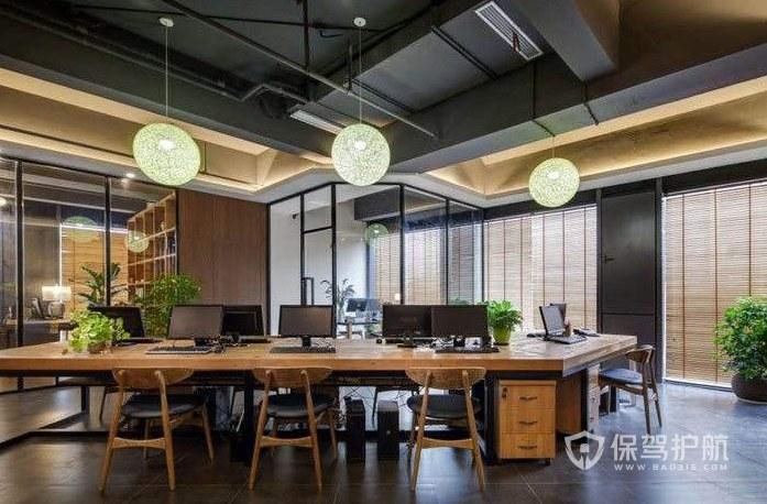日式风格办公区装修效果图
