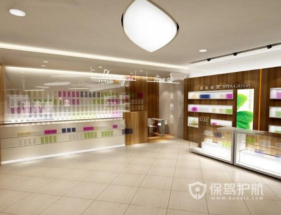 日式简约风化妆品店装修效果图