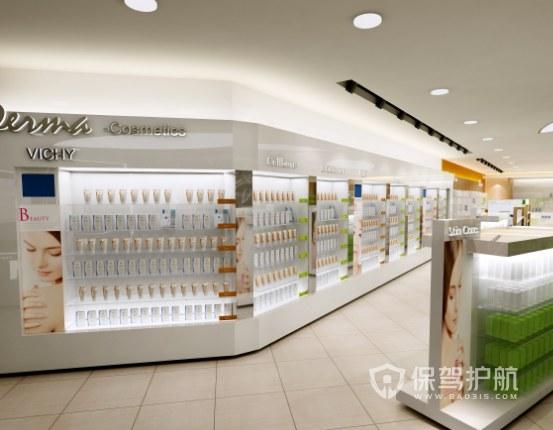 美式极简化妆品店装修效果图