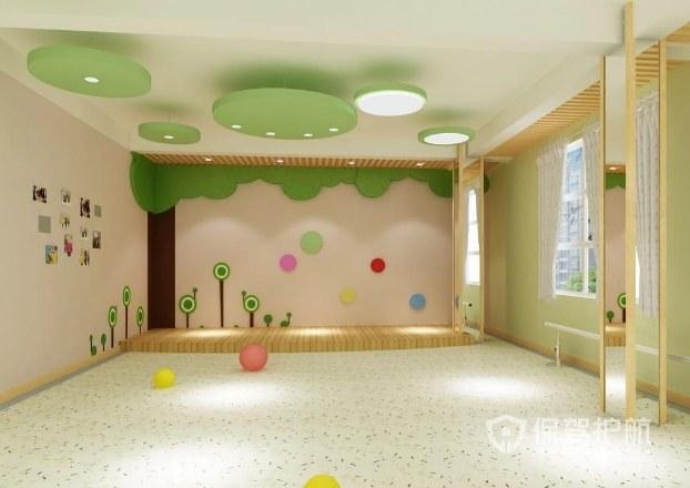 清新可愛森系風幼兒園裝修效果圖