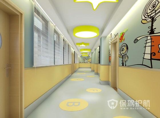 現代簡約清新風幼兒園裝修效果圖