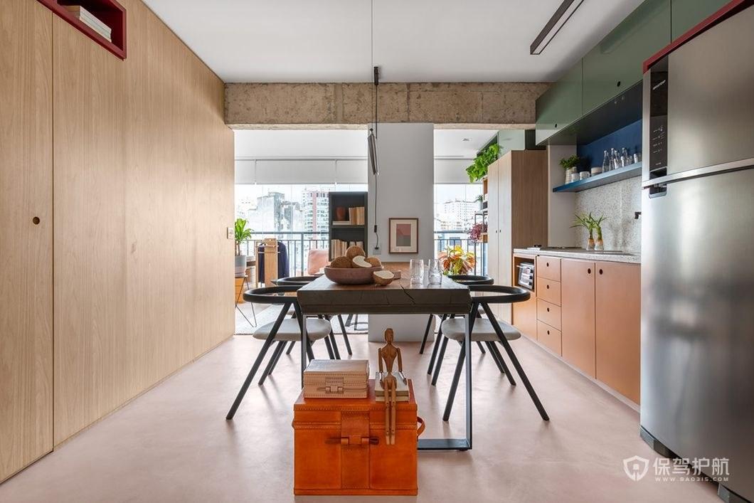 开放式厨房餐厅一体装修效果图