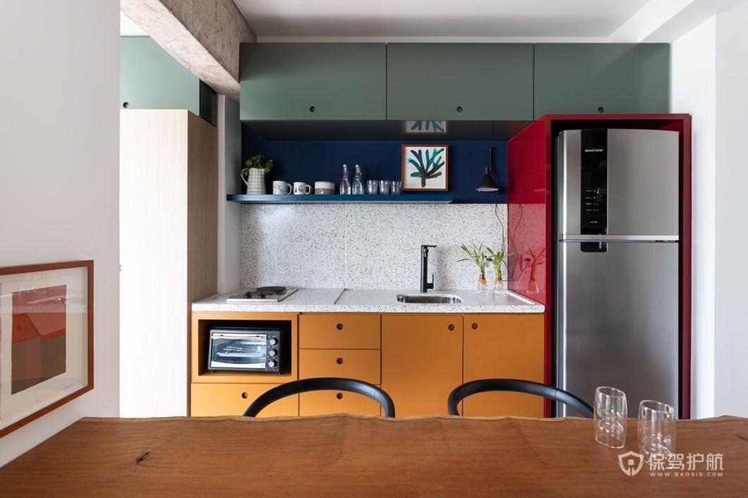 開放式廚房櫥柜裝修效果圖