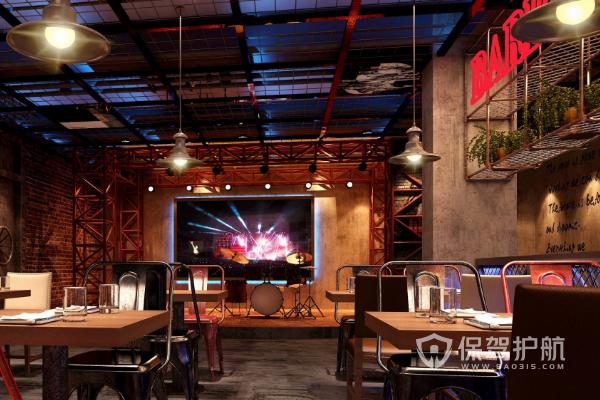 音樂酒吧設計效果圖-保駕護航裝修網