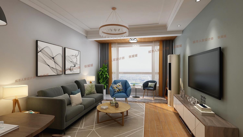 星光島120平復式三居室現代簡約家裝效果
