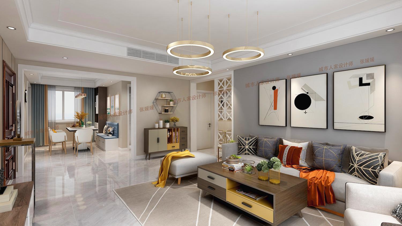 世茂諾沙灣130平三居室現代簡約家裝效果
