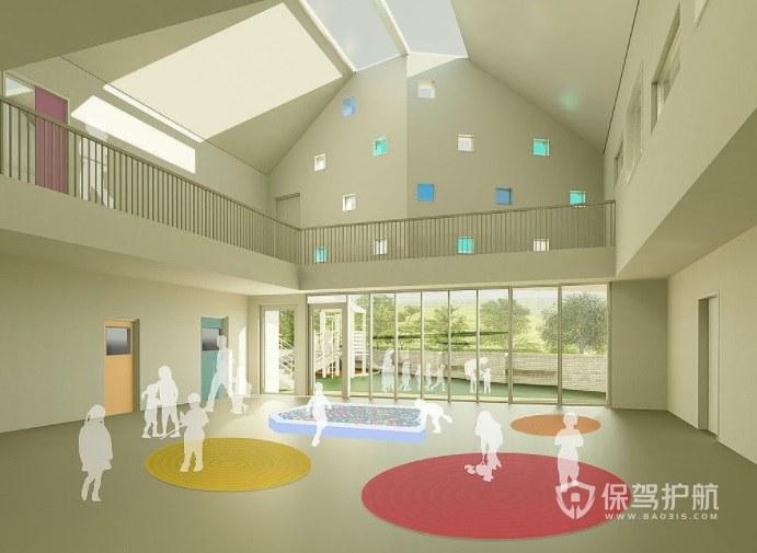 小清新幼儿园室内活动室装修效果图