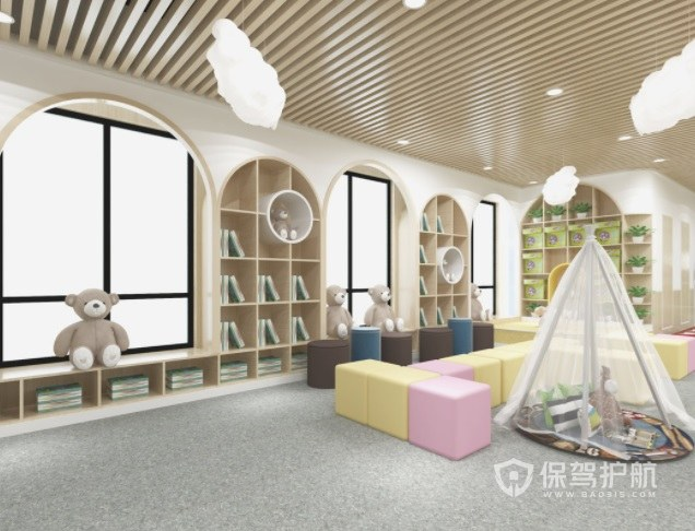 法式温馨清新风幼儿园装修效果图