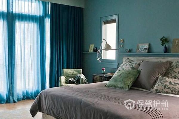卧室窗帘搭配效果图-保驾护航装修网