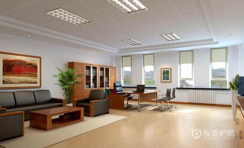 现代简约老板办公室装修效果图