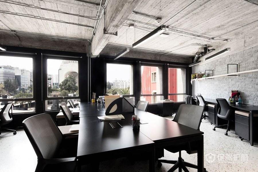复古工业风格办公区装修效果图