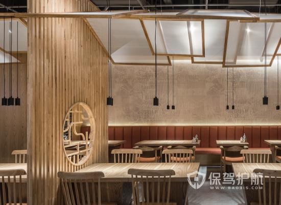 新中式风格小吃店灯光设计效果图