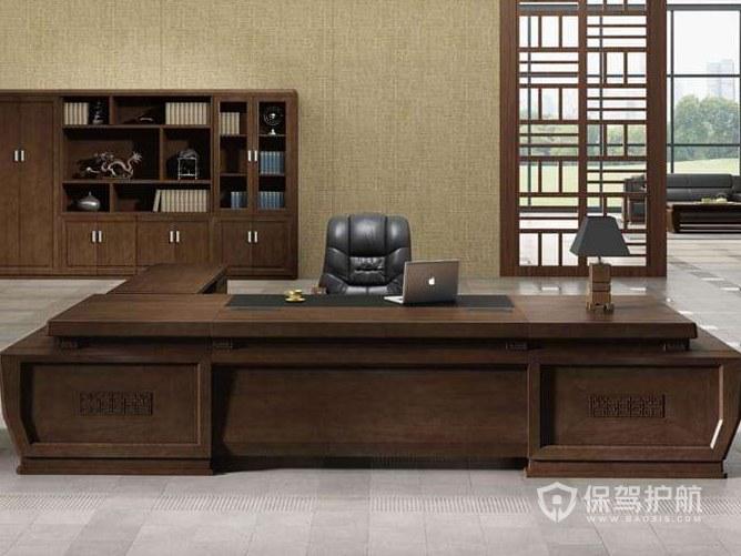 大中式领导办公室装修效果图