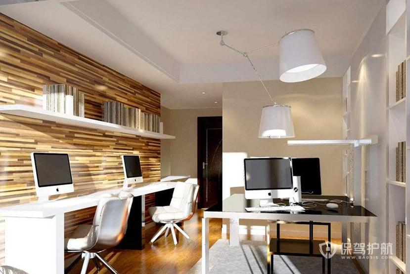 開放式小辦公室裝修效果圖