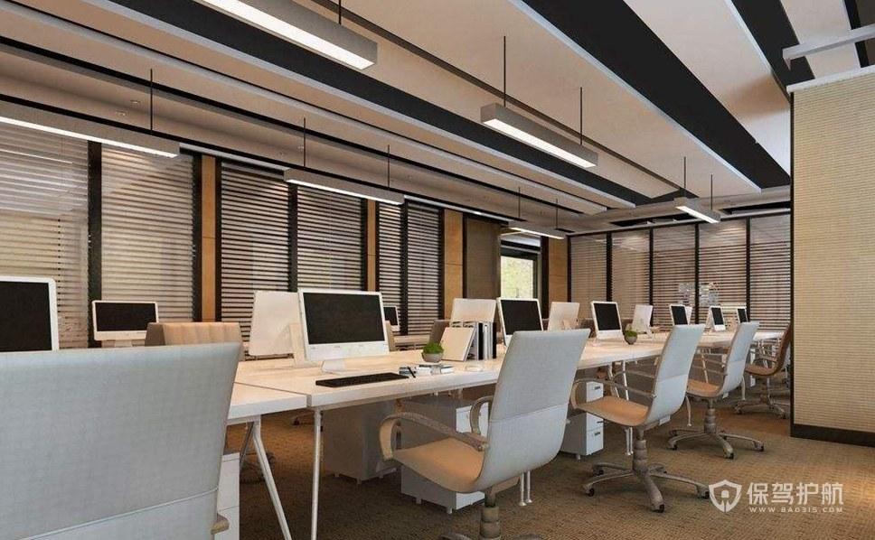 时尚风格办公室办公区装修效果图