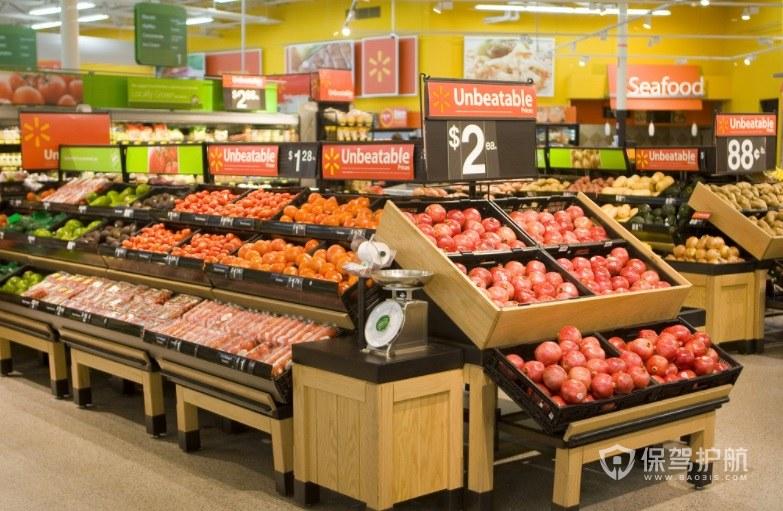 简约清新风超市墙面装修效果图