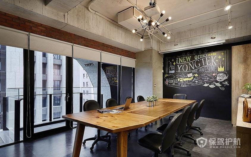 复古风格办公会议室装修效果图