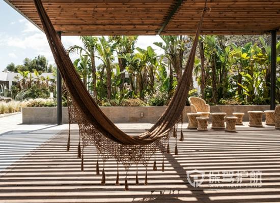 古典风格度假酒店露台设计装修效果图