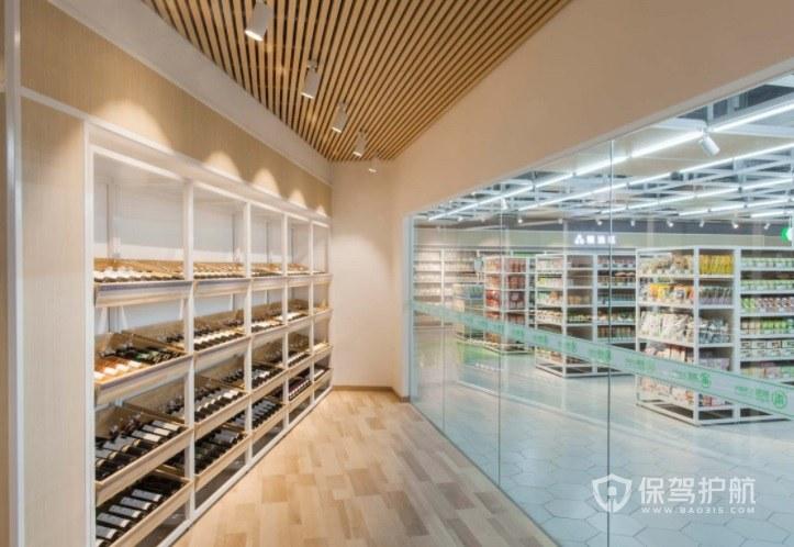 日式简约风超市墙面装修效果图