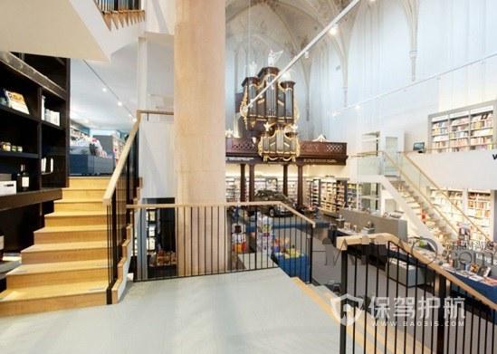 双层超市创意楼梯装修效果图