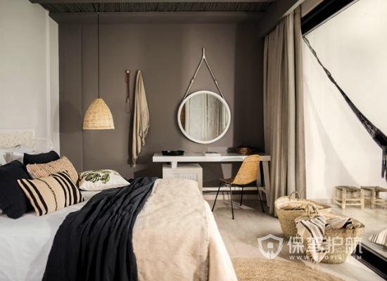 古典风格度假酒店客房布局设计效果图