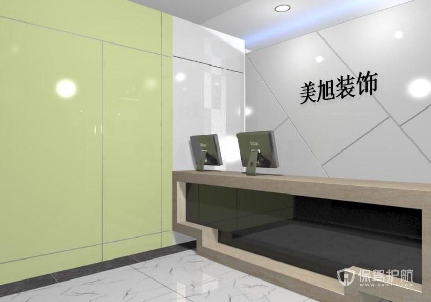 极简风格办公室前台装修效果图