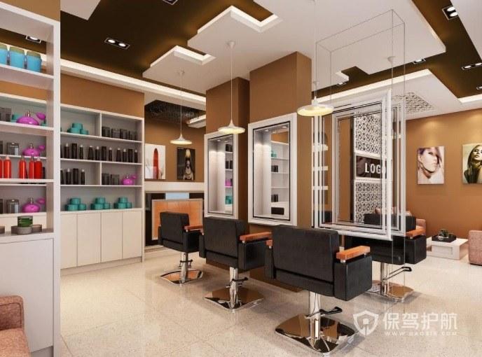 现代理发店创意墙面装修效果图