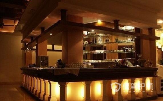 古典欧式风格饭店吧台设计效果图