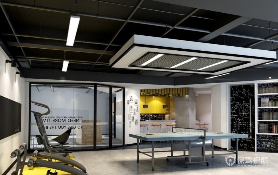 现代风格办公室健身区装修效果图