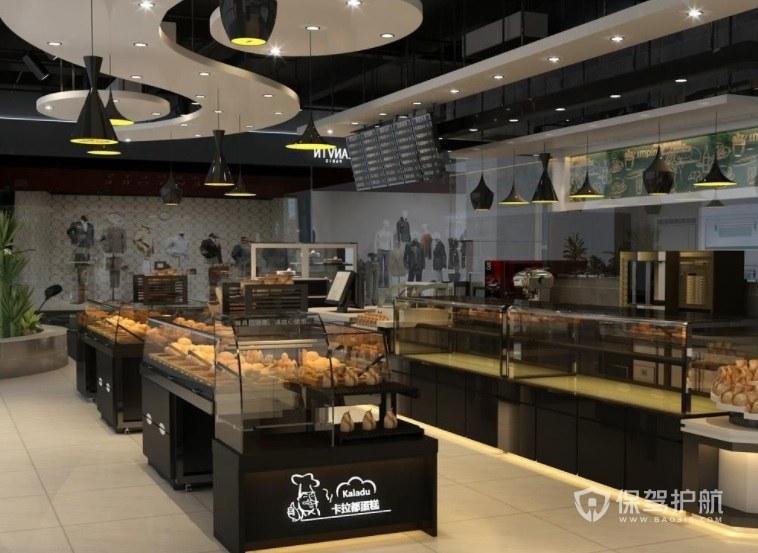 现代创意蛋糕店吊顶装修效果图