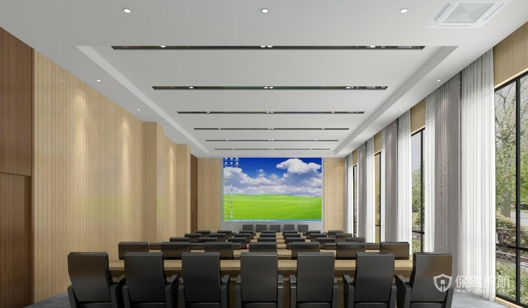 大型办公会议厅装修效果图