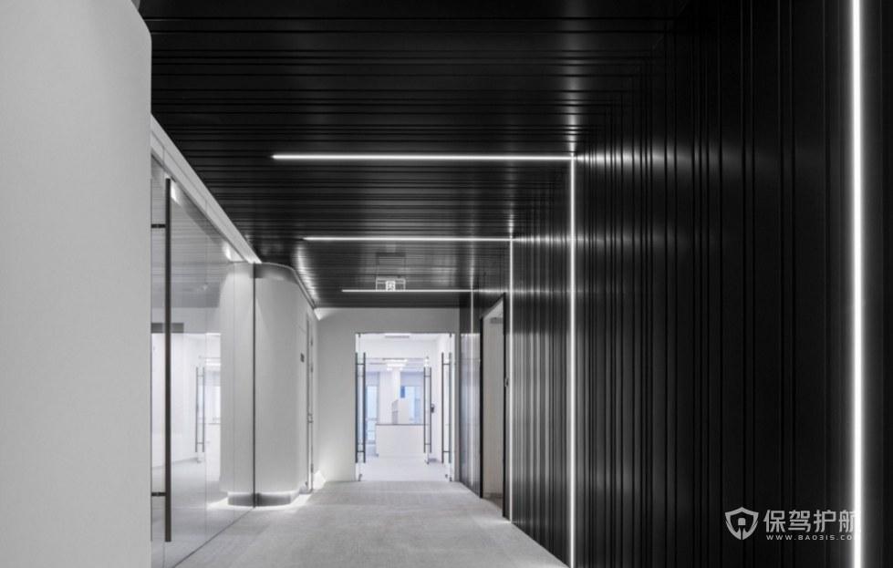 极简创意办公走廊装修效果图