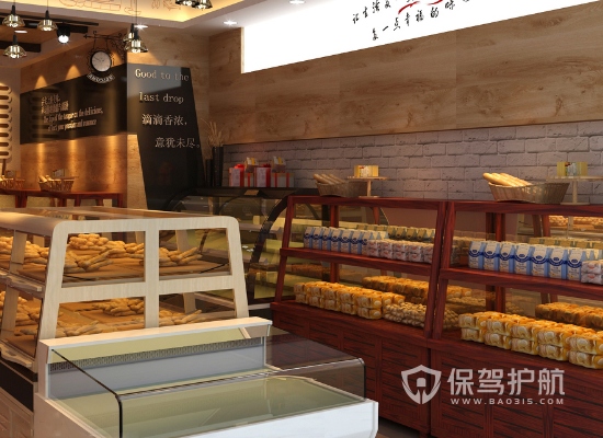 90平米欧式风格蛋糕店商品柜设计效果…